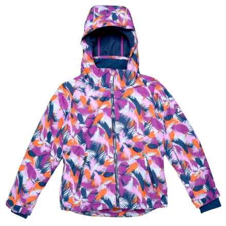 Kamik Avalon Whimsical Ski Jacket - Waterproof, Insulated (For Little and Big Girls) in Ice/Sweet Plum - Closeouts