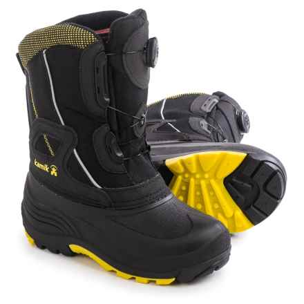 Kamik Backwood Pac Boots - Insulated (For Toddlers) in Black - Closeouts