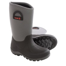Kamik Bluster Snow Boots - Waterproof (For Little and Big Kids) in Charcoal - Closeouts