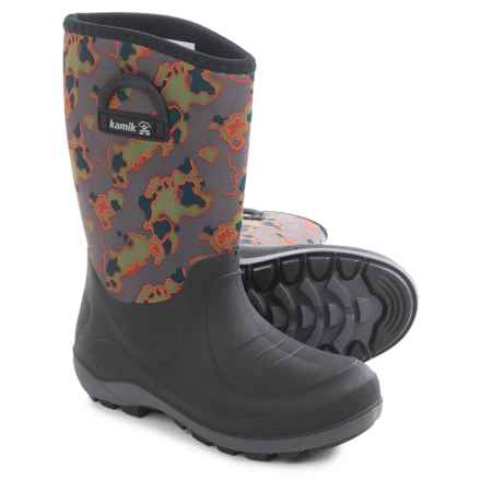 Kamik Bluster2 Rain Boots (For Little and Big Kids) in Charcoal - Closeouts