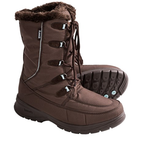 Kamik Brooklyn Winter Boots - Waterproof (For Women) in Dark Brown