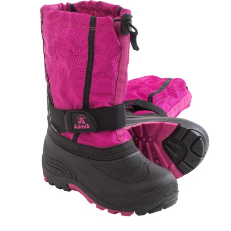 Kamik Carver Pac Boots - Waterproof, Insulated (For Little and Big Kids) in Magenta