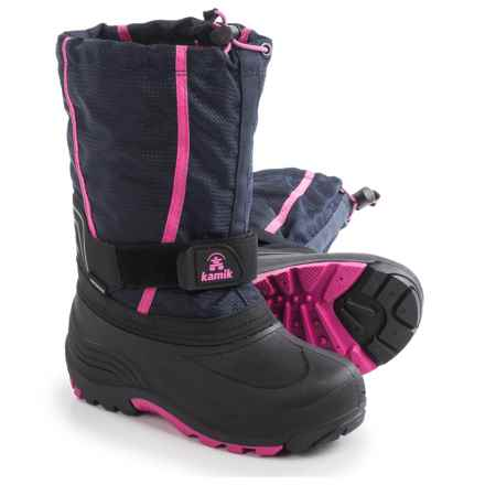 Kamik Carver Pac Boots - Waterproof, Insulated (For Little and Big Kids) in Navy - Closeouts