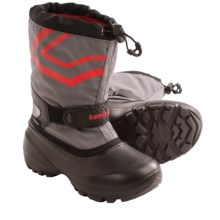 Kamik Champ Pac Boots - Waterproof (For Kids) in Charcoal - Closeouts