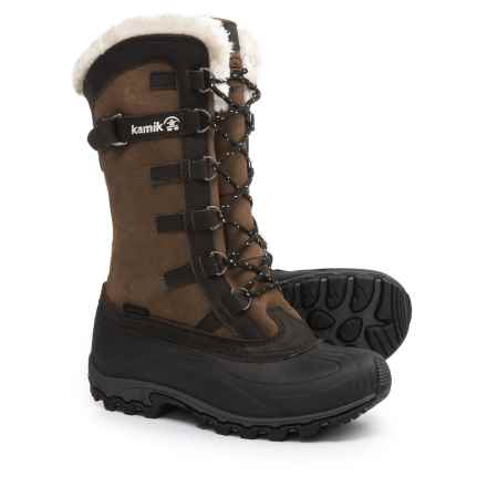 Kamik Citadel Pac Boots - Waterproof, Insulated (For Women) in Dark Brown - Closeouts