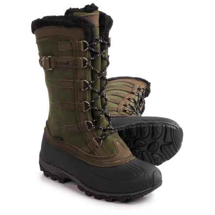 Kamik Citadel Pac Boots - Waterproof, Insulated (For Women) in Green - Closeouts
