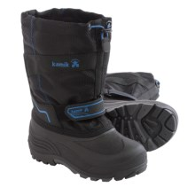 Kamik Coaster Pac Boots (For Little and Big Kids) in Black2 - Closeouts