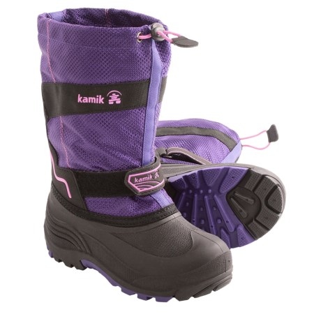 Kamik Coaster Snow Boots - Waterproof, Insulated (For Youth Boys and Girls) in Purple/Pink
