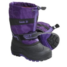 Kamik Coaster Winter Boots - Waterproof, Insulated (For Kid Boys and Girls) in Purple - Closeouts