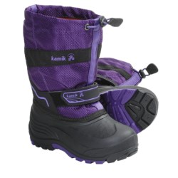 Kamik Coaster Winter Boots - Waterproof, Insulated (For Kid Boys and Girls) in Purple