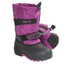 Kamik Coaster Winter Boots - Waterproof, Insulated (For Kid Boys and Girls) in Viola - Closeouts