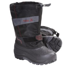 Kamik Coaster Winter Boots - Waterproof, Insulated (For Youth Boys and Girls) in Black