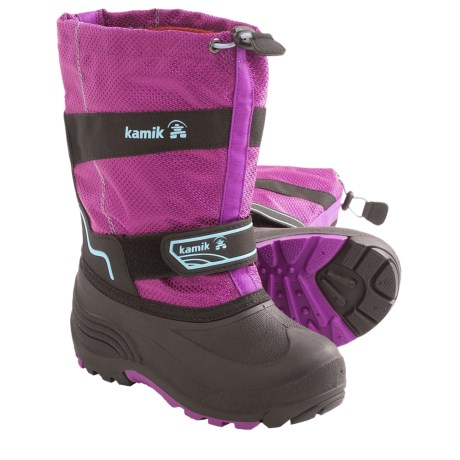 Kamik Coaster Winter Boots - Waterproof, Insulated (For Youth Boys and Girls) in Purple/Pink