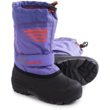 Kamik Coaster3 Pac Boots - Waterproof, Insulated (For Little and Big Kids) in Lavender - Closeouts