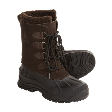 Kamik Conquest Winter Pac Boots - Waterproof (For Women) in Dark Brown