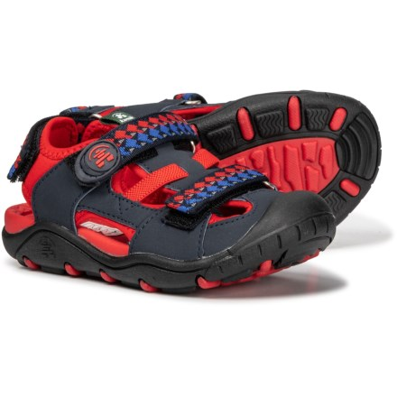 8522673ed864d Kamik Coral Reef Sandals (For Boys) in Navy Red