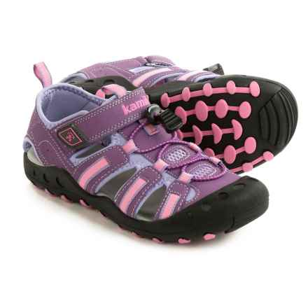 Kamik Crab Sport Sandals (For Little and Big Girls) in Purple - Closeouts