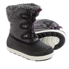 Kamik Dashaway Snow Boots - Waterproof (For Little and Big Girls) in Charcoal - Closeouts