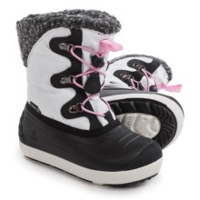 Kamik Dashaway Snow Boots - Waterproof (For Little and Big Girls) in White - Closeouts