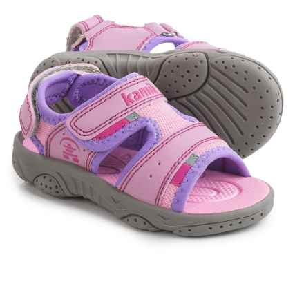 Kamik Dolphin Sport Sandals (For Toddlers) in Pink/Wite - Closeouts