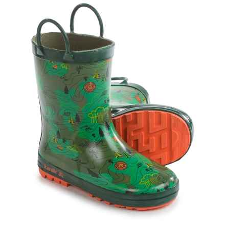 Kamik Explore Rain Boots - Waterproof (For Little and Big Kids) in Green - Closeouts
