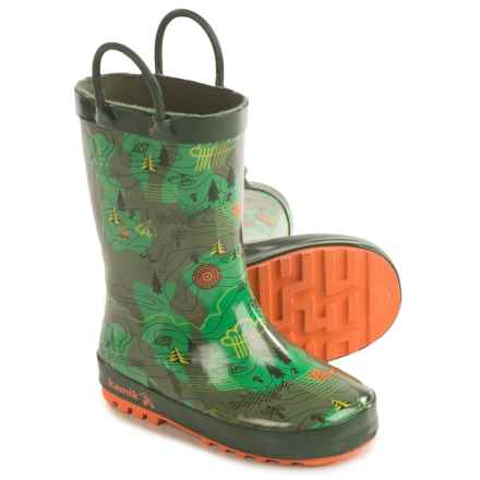 Kamik Explore Rubber Rain Boots - Waterproof (For Toddlers) in Green - Closeouts