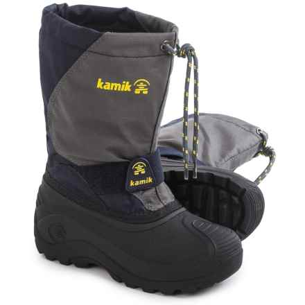 Kamik Fireball5 Pac Boots (For Toddlers) in Charcoal - Closeouts