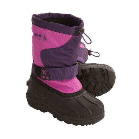 Kamik Flip Winter Pac Boots - Insulated (For Kids and Youth) in Magenta
