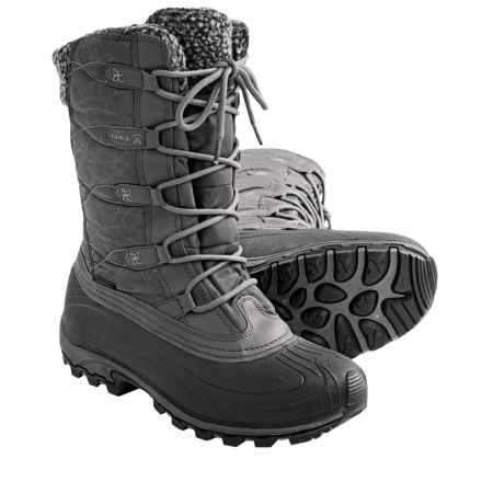 Kamik Fortress Winter Snow Boots - Waterproof, Insulated (For Women) in Charcoal - Closeouts