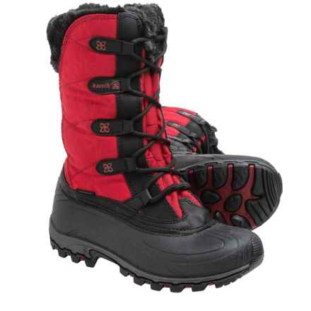 Kamik Fortress Winter Snow Boots - Waterproof, Insulated (For Women) in Red 2 - Closeouts