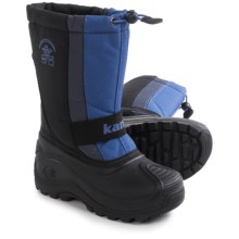 Kamik Freezone Pac Boots - Waterproof, Insulated (For Little and Big Kids) in Black - Closeouts