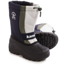 Kamik Freezone Pac Boots - Waterproof, Insulated (For Little and Big Kids) in Navy - Closeouts