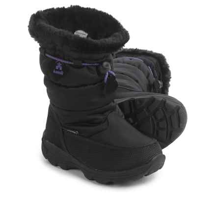 Kamik Garnet Snow Boots - Waterproof (For Toddlers) in Black - Closeouts