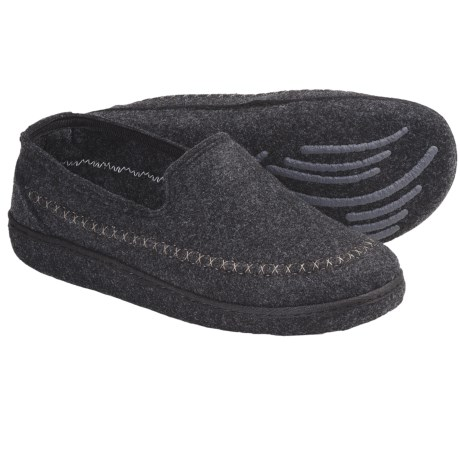 Kamik Gatehouse Felt Moccasin Slippers (For Men) in Black