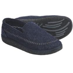 Kamik Gatehouse Felt Moccasin Slippers (For Men) in Navy