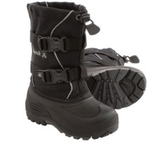 Kamik Grandslam Pac Boots - Waterproof (For Little Kids) in Black - Closeouts