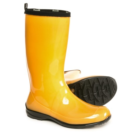 Kamik Heidi Rain Boots - Waterproof (For Women) in Amber