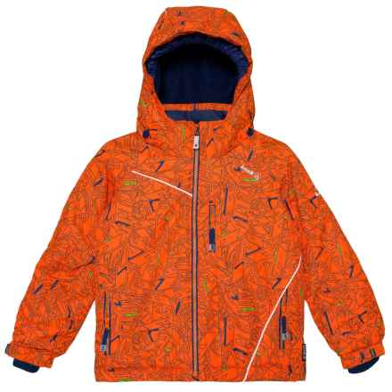 Kamik Hunter Powersurge Ski Jacket - Insulated, Removable Hood (For Little Boys) in Orange/Navy - Closeouts