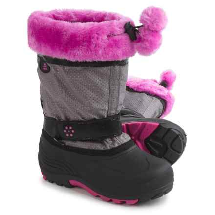 Kamik Iceberry Pac Boots - Waterproof, Insulated (For Little and Big Kids) in Silver - Closeouts