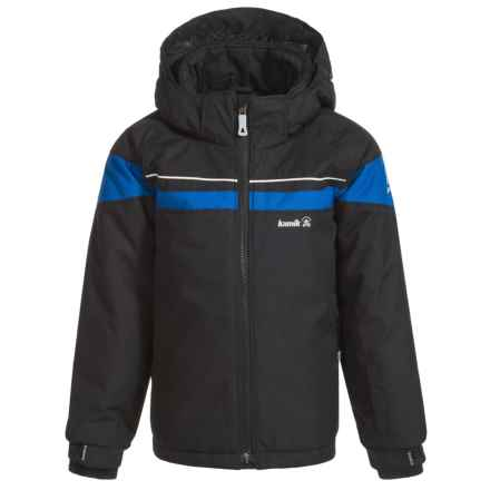 Kamik Jax Ski Jacket - Insulated (For Toddler Boys) in Black/Space - Closeouts