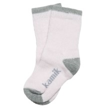 Kamik Jersey Cream ThermoCool Socks - Midweight, Crew, Merino Wool (For Girls) in Primrose Pink - Closeouts
