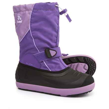 Kamik Jetsetter Pac Boots - Insulated (For Little and Big Kids) in Purple - Closeouts