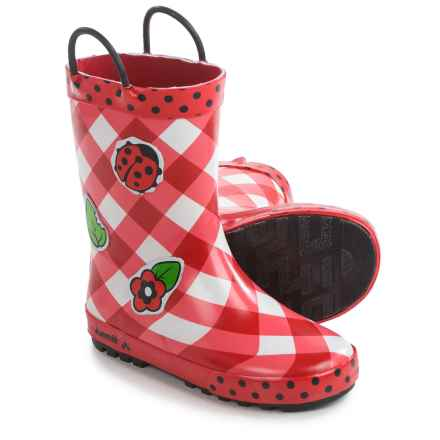 Kamik Ladybug Rain Boots - Waterproof (For Little and Big Girls) in Red - Closeouts