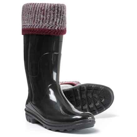 Kamik Lancaster Fleece-Lined Rain Boots - Waterproof (For Women) in Burgundy - Closeouts