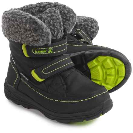 Kamik Leaf Snow Boots - Waterproof (For Little and Big Kids) in Black - Closeouts