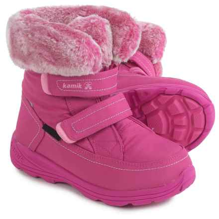 Kamik Leaf Snow Boots - Waterproof (For Little and Big Kids) in Magenta - Closeouts