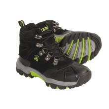 Kamik Leopard Hiking Boots - Waterproof, Insulated (For Kids and Youth) in Black - Closeouts