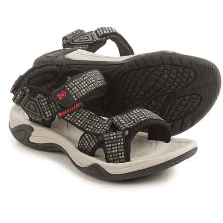 Kamik Lowtide Sport Sandal (For Little and Big Kids) in Charcoal - Closeouts