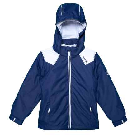 Kamik Lux 3-in-1 Down Jacket (For Little Girls) in Navy/Ice - Closeouts