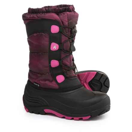 Kamik Moonracer Snow Boots (For Little and Big Kids) in Magenta - Closeouts